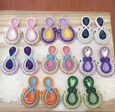 #soutache #soutacheearring #earring  Angie (@artimesis) • Fotos y vídeos de Instagram Soutache Necklace, Tassel Earrings, Crochet Earrings, Leather Jewelry, Boho Jewelry, Imitation Jewelry, Polymer Clay Charms, Bracelet Tutorial, Plastic Canvas Patterns
