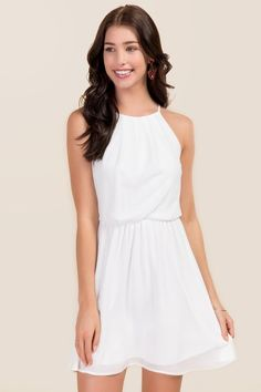 Lush Flawless Solid Dress  90d0e4633