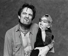 Tommy Lee of Motley Crue with son Brandon 1997 cute ...