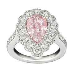 Natural Fancy Purplish Pink Diamond Ring, 2.58 Carats | From a unique collection of vintage bridal rings at https://www.1stdibs.com/jewelry/rings/bridal-rings/