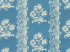Tarascon in Cornflower Blue from Brunschwig & Fils | @Kravet #fabric #cotton #floral #blue