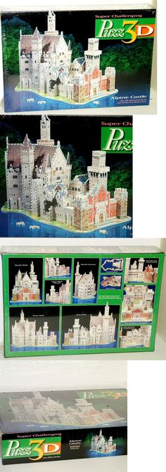 3D Puzzles 19186: Jigsaw Puzzle 3D Milton Bradley Alpine Castle 3D 1000 Piece New Sealed -> BUY IT NOW ONLY: $43 on eBay!