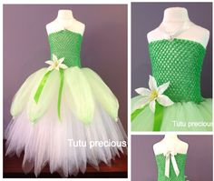 Disney Inspired The Princess and the Frog Princess Tiana Tutu Dress #Dress