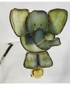Stained Glass Elephant Nightlight #StainedGlassKids