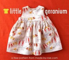 Free Little Geranium Dress Pattern