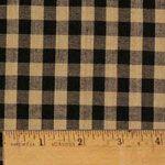Black 5 Homespun Cotton Fabric