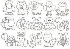animals to color