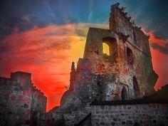 Nightfall by ~marrciano - Kamieniec Castle - Odrzykoń -  Poland