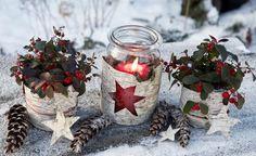 Weihnachtsdeko aus Naturmaterialien liegt voll im Trend. Diese Bastel-Ideen mit Birkenrinde bringen skandinavisches Flair auf die Terrasse.