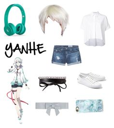 """YANHE- Vocaloid"" by marcytheanimemarshmallow69 ❤ liked on Polyvore featuring Alice + Olivia, AG Adriano Goldschmied, Fallon, Lacoste, Paul & Joe and Casetify"