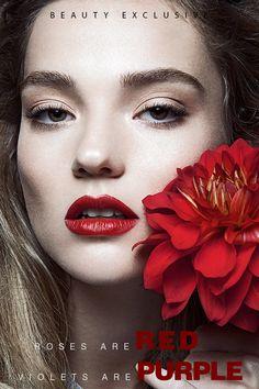 Botanical Beauty Portraits - Beauty Scene's Latest Exclusive Boasts Flirty and Feminine Makeup Looks (GALLERY)
