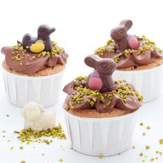 Cupcake de Pâques Deco Cupcake, Muffins, Love Cupcakes, Pastry And Bakery, Easter Party, Easter Treats, Cute Cakes, Easter Recipes, Chocolate