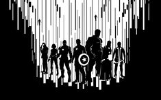 Full HD Wallpaper avengers age of ultron black and white main characters, Desktop Backgrounds HD