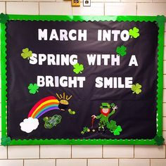 15 March Bulletin Board Ideas for Spring Classroom decoration - Hike n Dip - MARİE Nurse Bulletin Board, Office Bulletin Boards, Spring Bulletin Boards, Bulletin Board Display, March Bulletin Board Ideas, March Themes, Nutrition Sportive, Silvester Party, Bodybuilding