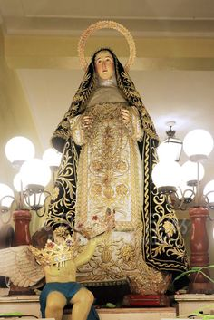 Margaret of Hungary Feast of Our Lady of the Most Holy Rosary - La Naval de Manila Sto. St Margaret, Holy Rosary, Our Lady, Manila, Hungary, Catholic, Saints, Sari, Victorian