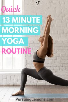 Start your day pumped and energized with this quick 13 minute morning yoga! It will help to activate your muscles and keep your blood flowing. Morning Yoga Stretches, Morning Yoga Sequences, Morning Yoga Routine, Yoga Poses For Beginners, Workout For Beginners, Asmr, Yoga Fitness, Muscles In Your Body, Yoga Muscles