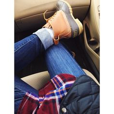 #casual #winter #outfit #every #day #bean #boots