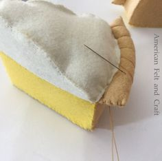 Your place to buy and sell everything that is handmade Felt Food Pie Lemon Cream Pie Felt .Your Place to Buy and Sell Everything, Handmade Felt Food Pie Lemon Cream Pie Felt Game Food Felt Felt Diy, Handmade Felt, Felt Crafts, Fabric Crafts, Fabric Toys, Hand Pies, Felt Food Patterns, Felt Play Food, Lemon Meringue Pie