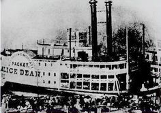 """This Civil War era packet steamer, the Alice Dean, plays an important role in DDW. The ship originally took cargo up the Ohio to Cincinnati from Memphis. It was actually seized by General John Hunt Morgan to ferry his men across the Ohio and into Indiana. In DDW, the ship was carrying a secret cargo that the """"ghosts"""" of Graycoat needed to survive."""