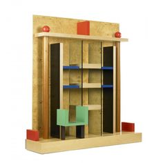 Naomi bookcase by Ettore Sottsass, 1985 ( Memphis Milano, Memphis Design, Home Libraries, Types Of Furniture, Postmodernism, Pop Up Stores, Decoration, Painting On Wood, Industrial Design