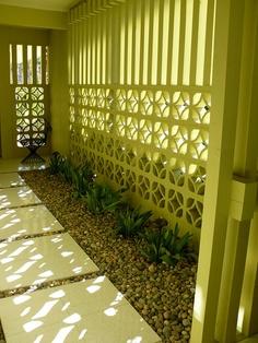 Chartreuse mid century modern screen.  Secret Design Studio knows mid century modern architecture.  www.secretdesignstudio.com