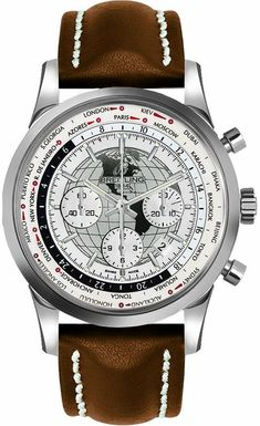 Breitling Transocean Chronograph Unitime / Item No . Breitling Superocean Heritage, Breitling Navitimer, Breitling Watches, Cartier, Fossil Watches, Cool Watches, Men's Watches, Wrist Watches, Watches Online