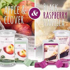 Available this Tuesday September 29th!  jicbyjulie.com  #apple #clover #raspberry #vanilla #candles #tarts #jewelry #jicbyjulie #jicscents