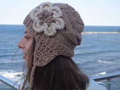 Womens Hats Knit Hats, Flower Hat Woman, Womens Knit Winter Hats, Womens Knit Hats, Knit Womens Hats, Knit Adult Hat Beanie Hat. $19.50, via Etsy.
