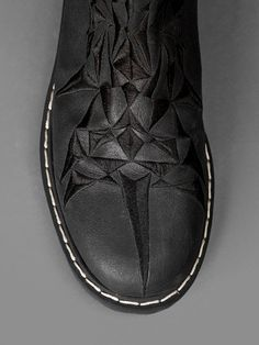 GARETH PUGH FLAT BOOTS WITH EMBROIDERY