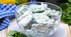 Get Out Of Your Lunch Time Rut With This Creamy Yogurt Cucumber Salad - substitute non fat yoghurt with full cream Greek Yoghurt Cucumber Avocado Salad, Avocado Salad Recipes, Yogurt Recipes, Healthy Salad Recipes, Veggie Recipes, Cooking Recipes, Healthy Foods, Healthy Eating, Cherry Tomato Pasta
