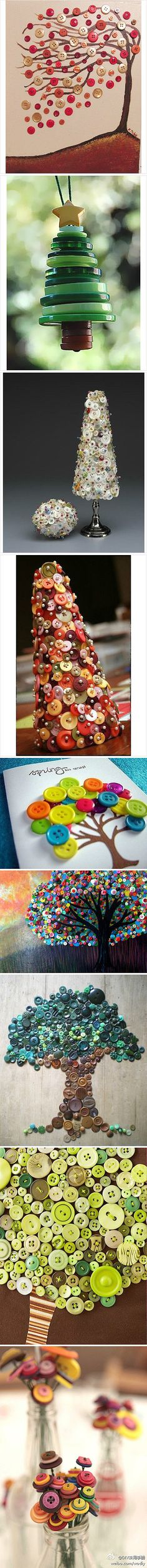 Lots of ideas. I liked the little button tree ornament.