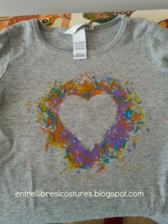 camiseta pintada con plastidecor