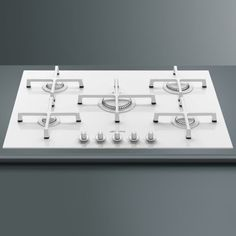 Buy Smeg Linea 5 Burner Gas-on-glass Hob With Straight Edge Glass - White from Appliances Direct - the UK's leading online appliance specialist Kitchen Hob, White Kitchen Appliances, Wooden Kitchen, Kitchen White, White Kitchens, Dream Kitchens, Kitchen Design, Kitchen Decor, Kitchen Organisation