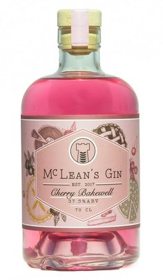 Buy McLean's Cherry Bakewell Gin cl) online from A Scottish gin inspired by the Bakewell Tart with flavours of cherry, almond & vanilla. Next day UK delivery available. Gin Mixers, Gin Quotes, Scottish Gin, Gin Brands, Gin Gifts, Bakewell Tart, Craft Gin, Fancy Drinks, Cream Soda