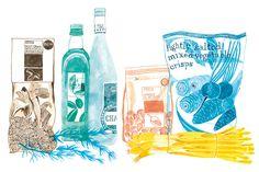 MarksSpencer, Foodhalls - Emily Robertson #art #illustration #painting