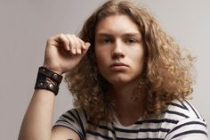male hair long curly - Google Search