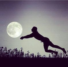 #moon #volleyball #silhouette