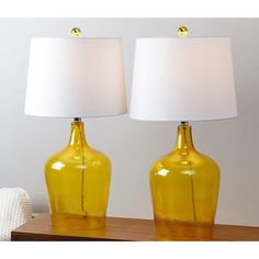 Shop for ABBYSON LIVING Azure Amber Glass Table Lamp (Set of 2). Get free delivery at Overstock.com - Your Online Home Decor Shop! Get 5% in rewards with Club O!