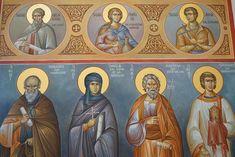 Byzantine Icons, Orthodox Icons, Saints, Angel, Painting, Art, Fresco, Art Background, Painting Art