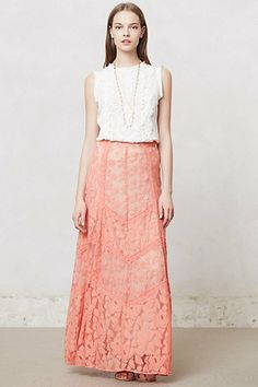 Georgia Maxi Skirt Find Champagne & Strawberry at Anthropologie.com!