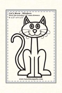 Lunch Box Quilts   Mark-a-Block Cat's Meow