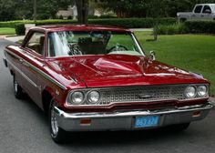 1963 Ford Galaxie 427 Cammer - Pristine Classic Cars For Sale Ford Galaxie, Vintage Cars, Antique Cars, Cool Old Cars, Nice Cars, Ford Torino, Ford Classic Cars, Car Ford, Ford Trucks
