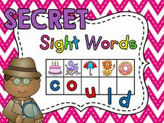 Secret Sight Words hands on literacy station - 335 sight words included!