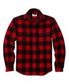 Regular Fit Buffalo Plaid Shirt Jacket Red