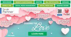 Website Maintenance, Graphic Design Company, Social Media Ad, Google Ads, Corporate Branding, Online Advertising, Love Is Free, Design Development, Ecommerce