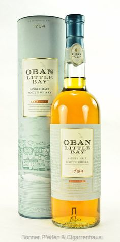 Oban Whisky Little Bay Region : Coastal Highlands 43% alc./vol. 0,7l kühlfiltriert mit Farbstoff Fassart : Small Batch Scotch Whiskey, Bourbon Whiskey, Pot Still, Single Malt Whisky, Wine And Beer, Grubs, Distillery, Gin, Root Beer