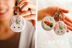 【皮皮分享图纸】可爱小兔子挂件,钥匙手机都能用