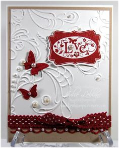 Stampin Up such great use of the embossing folder.