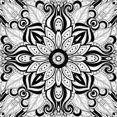 бесшовные Пейсли узор: Вектор бесшовные Абстрактный черный и белый Племенной шаблон.  Рисованной этнической текстуры, полет фантазии