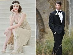 This Ultra-Romantic Gatsby Wedding Inspiration Might Inspire You to Play Dress-Up This Weekend! (Tell Your Fella to Dust Off His Tux!)